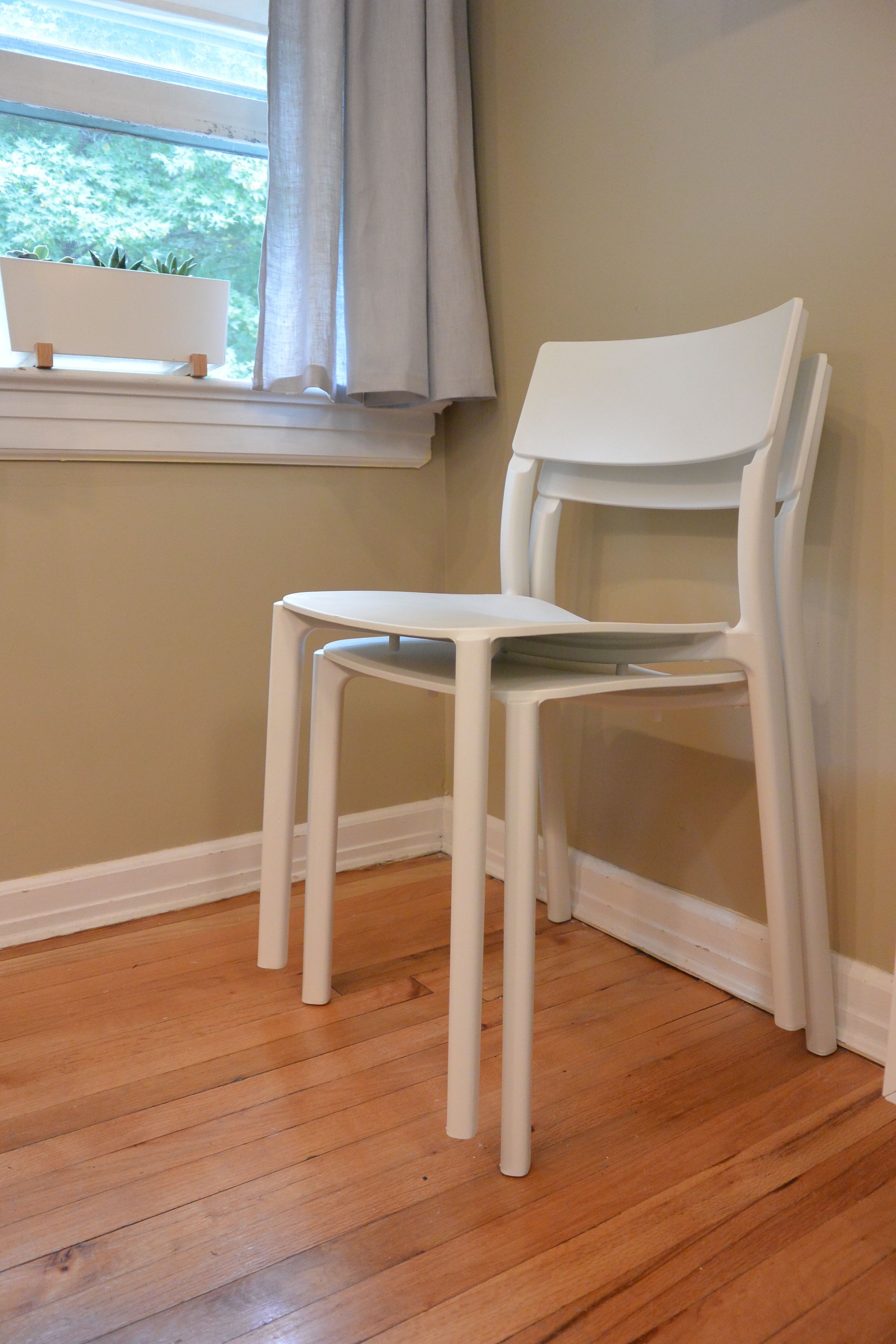 Stackable Chairs For Less Folding Chair Black Ikea Janinge Are So They Take Up Space When You Re Not Using Them Perfect A Small