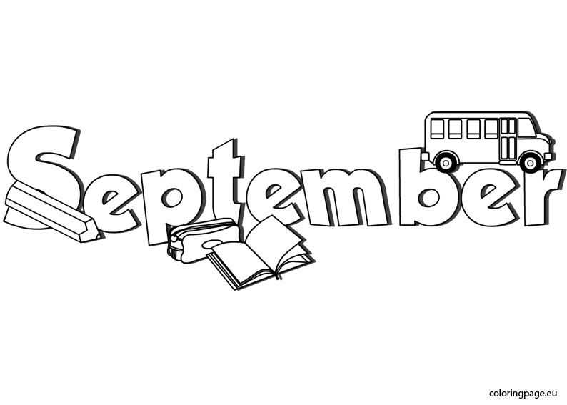 September coloring page | Coloring Pages/Printables,Templates ...