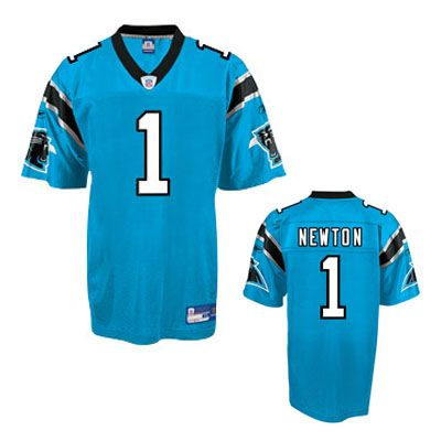 Cam Newton Jersey, Reebok #1 Carolina Panthers Authentic NFL Jersey in  Blue- Price