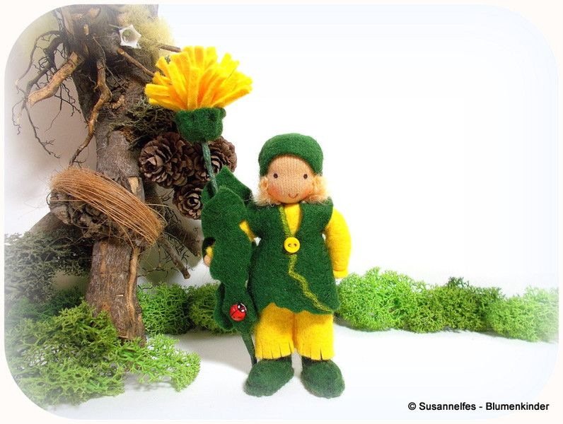 Löwenzahn+Blumenkinder+Jahreszeitentisch+von+Susannelfes+Blumenkinder++auf+DaWanda.com