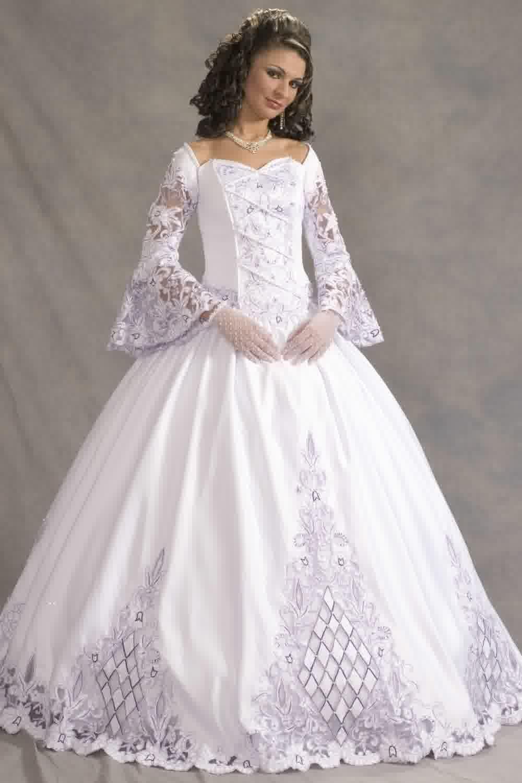 Celtic Wedding Dresses Plus Size Old Fashioned Wedding Dresses Wedding Dress Long Sleeve Ball Gowns Wedding