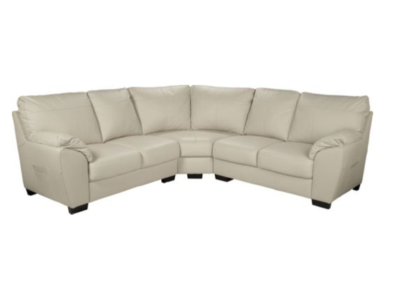 Vicenza Leather Corner Sofa Group - Ivory