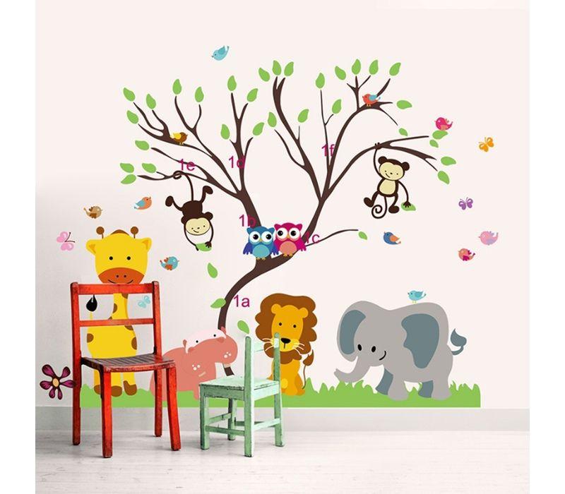 Sticker Animaux D Afrique Stickers Muraux Arbre Art De Chambre