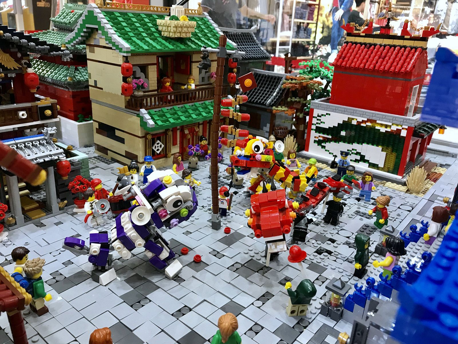 Oriental Town With Chinese New Year Celebration