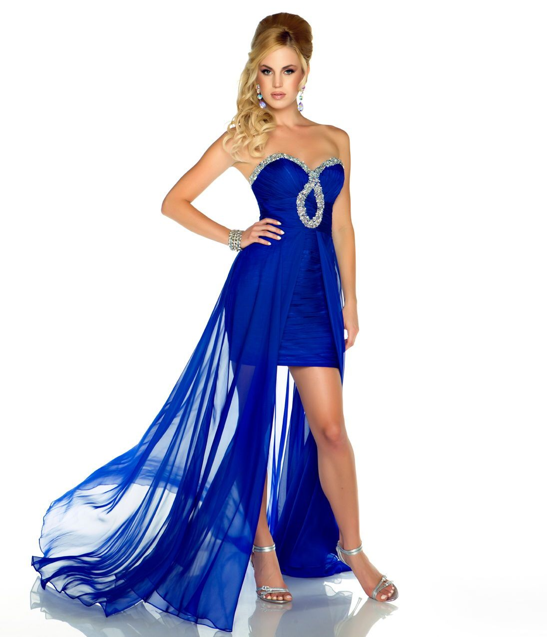Bridesmaid Dresses Royal Blue And Silver