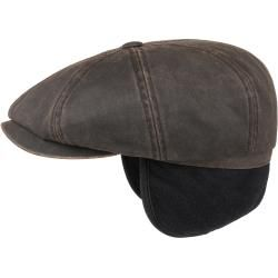 Photo of Stetson Hatteras Old Cotton Earflap Cap Cotton Cap Winter Cap Flat Cap Flat Cap Stetso