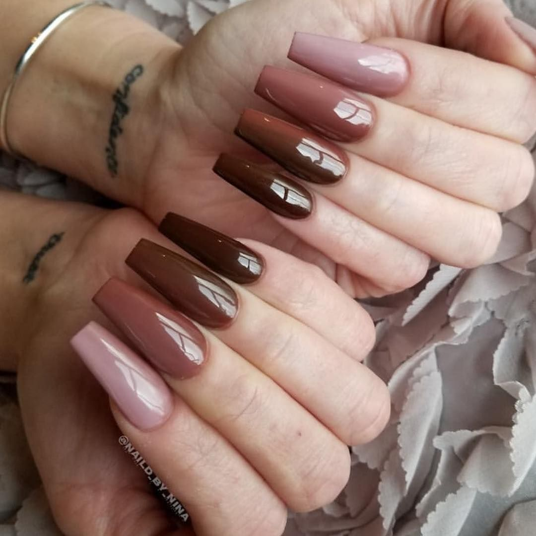 Liv On Instagram Follow Us Thenaillife For More Beauty Post Coffin Nails Designs Fall Acrylic Nails Long Nails