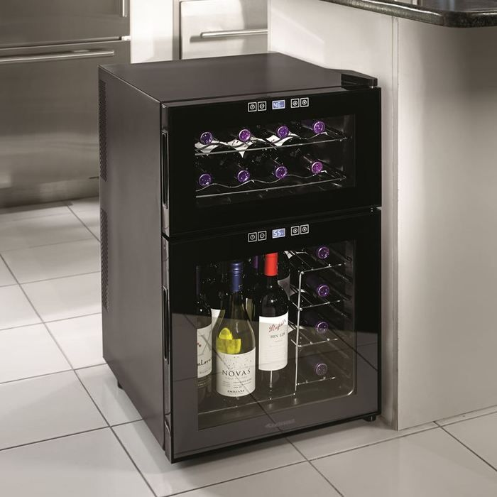 Silent 24 Bottle Touchscreen Wine Refrigerator at