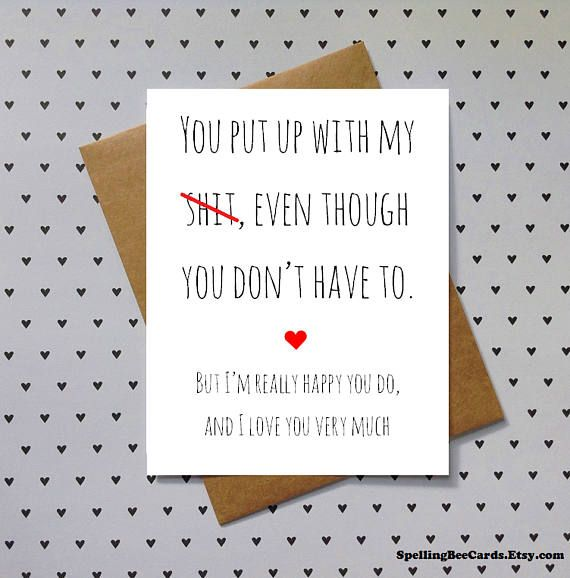 Birthday Or Anniversary Love Card For Boyfriend Girlfriend
