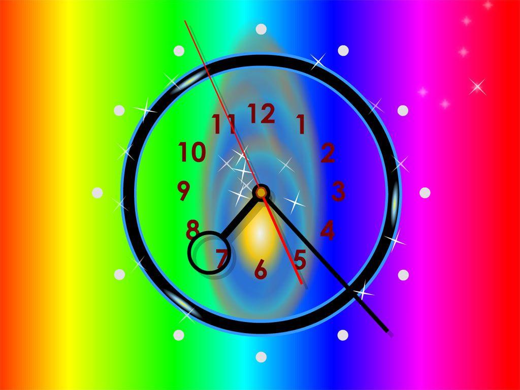 Pin By Shana Leonard On Color Splash Neon Pastels Fractals Etc Clock Wallpaper Clock Clock Screensaver