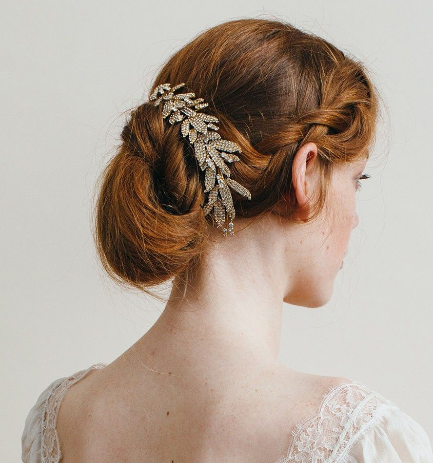 arielle chignon wrap with double comb by jennifer behr | hair
