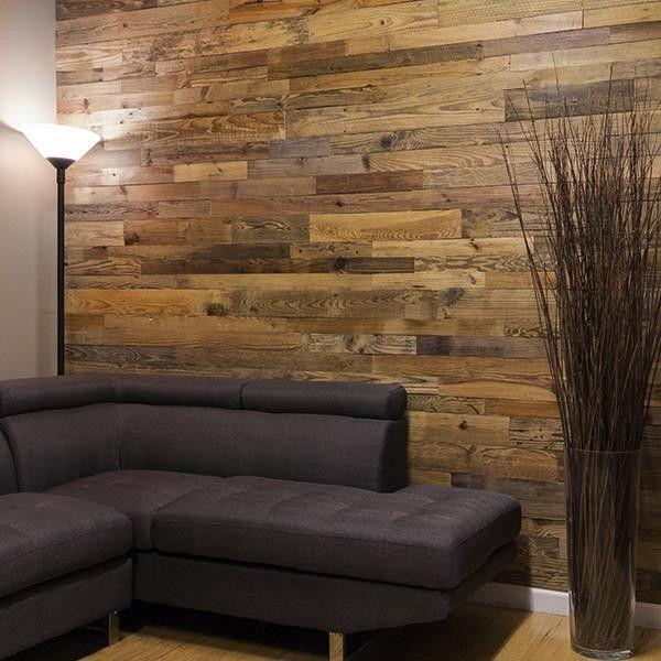 DIY Relcaimed Natural Pine Wall Love this DIY shiplap style