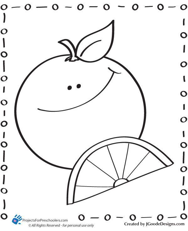 happy orange Coloring Page  S fruits et lgumes  Pinterest
