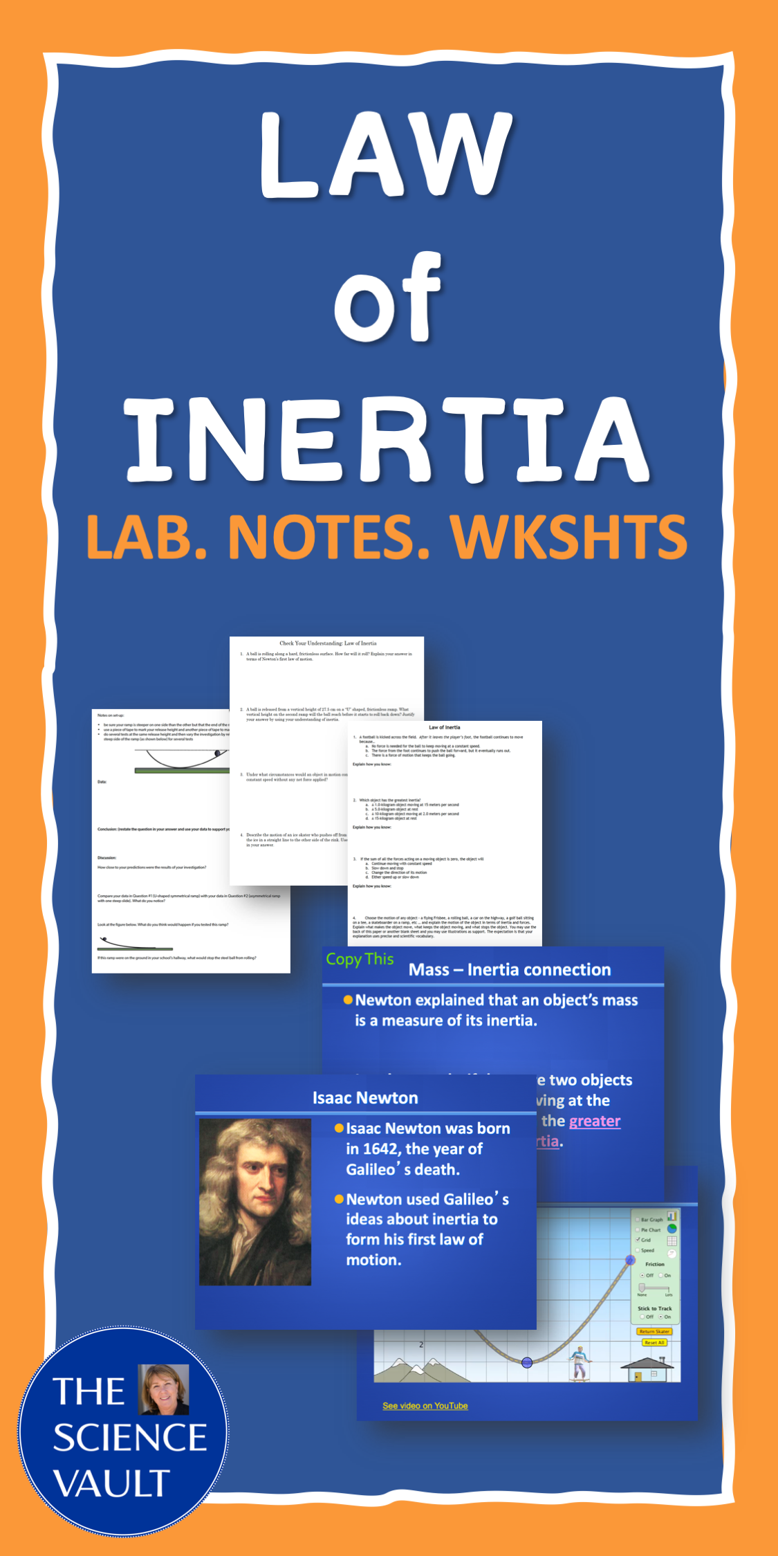 Newton S Laws Of Motion Law Of Inertia Notes Lab