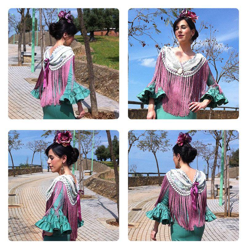Mantoncillo De Flamenca Diy Tutorial Para Hacerlo Tu Misma Mantones Flamenca Vestido Flamenco Niña Y Flamenco
