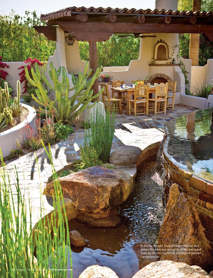Phoenix Home and Garden Design Arizona 2014 Page 34 ... on Desert Landscape Ideas For Backyards id=99454
