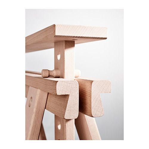 FINNVARD Caballete con balda  haya  IKEA  sillas bancos