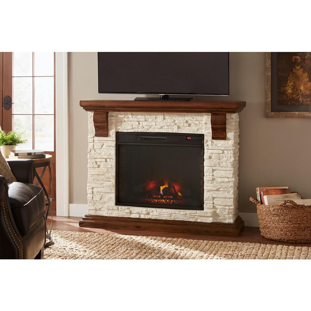 Stone Electric Fireplace Tv Stand Home Decorators Collection Highland 50 In Media Console With Faux