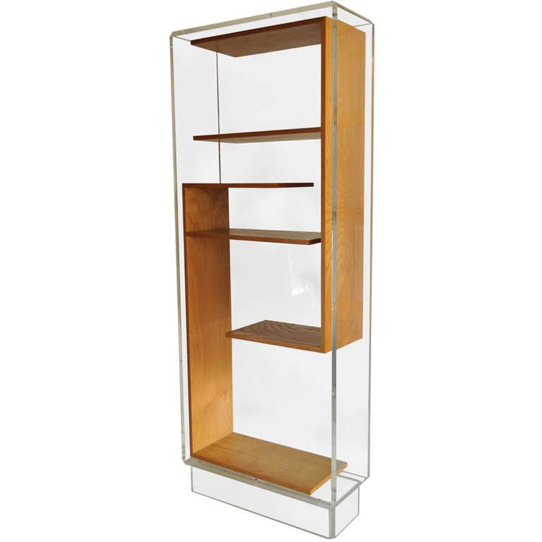 custom midcentury modern lucite etagere or bookcase after charles hollis jones nousdecor