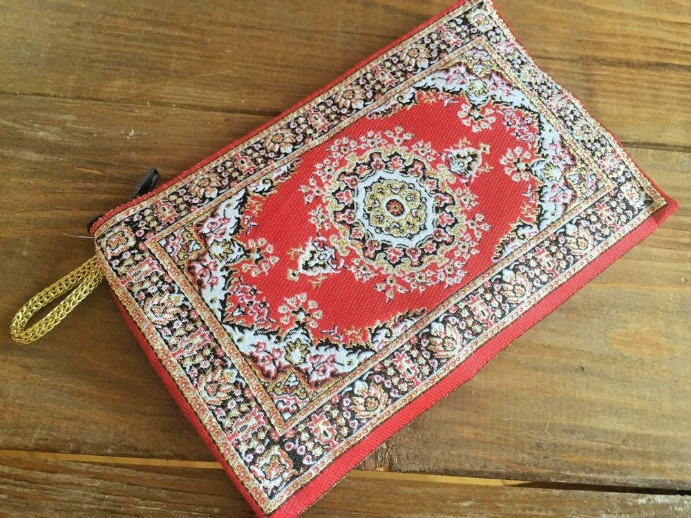 Free Worldwide Shipping Ethnic Floral Kilim Patterned Clutch Bag Moroccan Boho