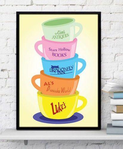Gilmore-Girls-poster-Coffee-Mugs-Stars-Hollow-gilmore-girls-sign-Lukes-Diner