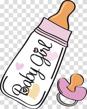 Baby Girl Feeding Bottle Illustration Baby Bottle Baby Announcement Illustration Pink Baby Bottle Transparent Background Baby Bottles Bottle Drawing Clip Art