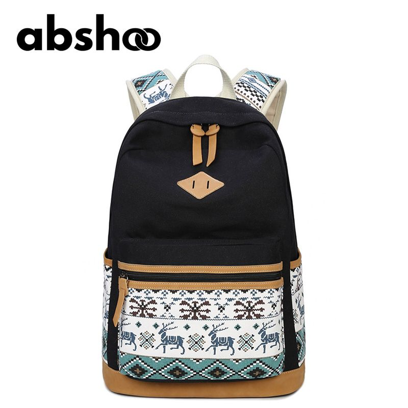 Cute Girls Backpacks Canvas School Bags For Teenager Girl ...