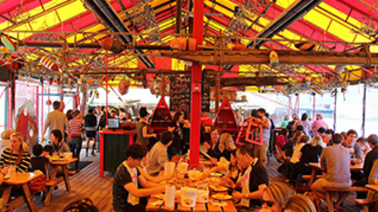barking crab Beer garden, Crab restaurant, Crab