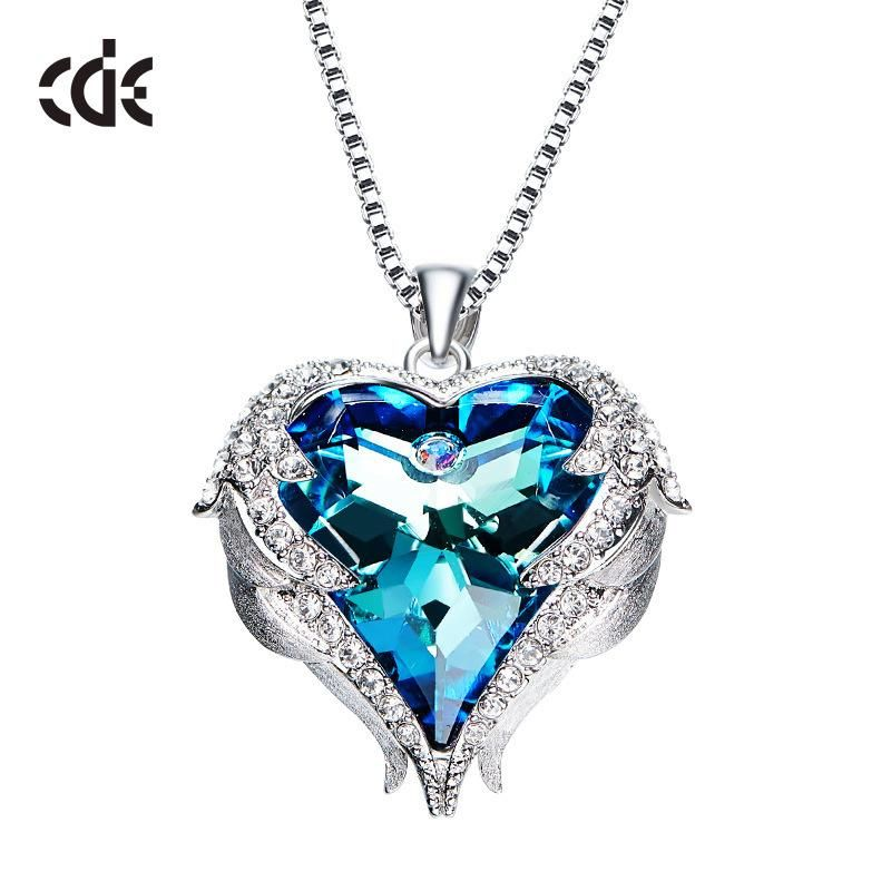 1e385ad1c09 Blue Heart Crystal Necklace - Presents to Buy Your Girlfriend –  giftforyou.store