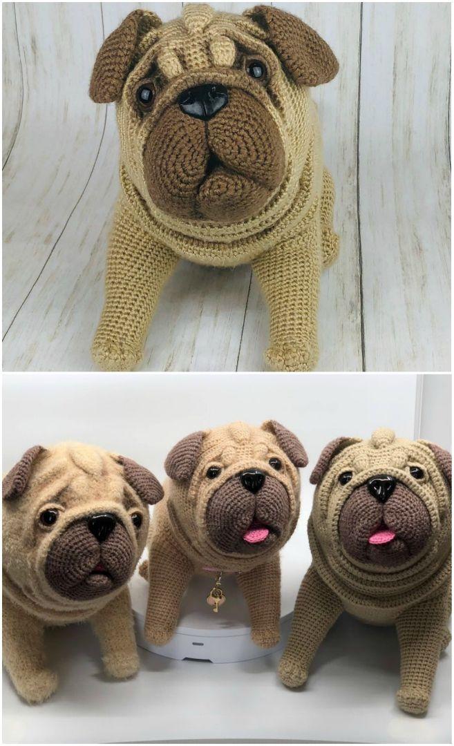 Free Amigurumi Dog Crochet Patterns | Crochet dog, Crochet ... | 1080x657