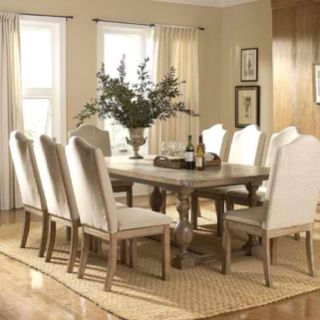 Classic Centerpiece Monastery Dining Table Beige Dining Room Side Chairs Dining Upholstered Dining Side Chair