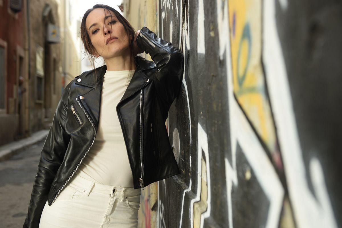 2017 Nouvelle Veste Chaude Cuir La Canadienne Femme Agneau