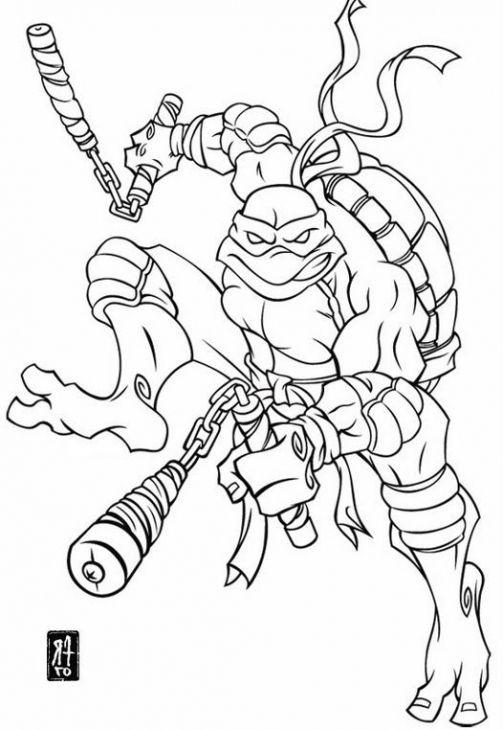 Free Printable Tmnt Michelangelo Coloring Page Ninja Turtle