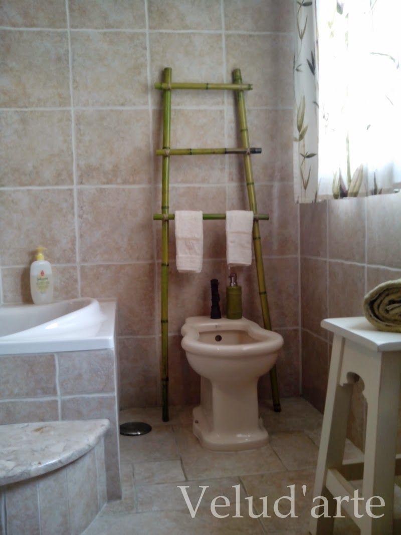 Velud 39 arte escada toalheiro em bamb diy escadas - Escalera de bambu ...