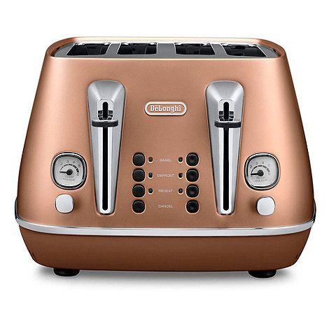DeLonghi Distinta 4 slice toaster style copper cti4003.cp ...