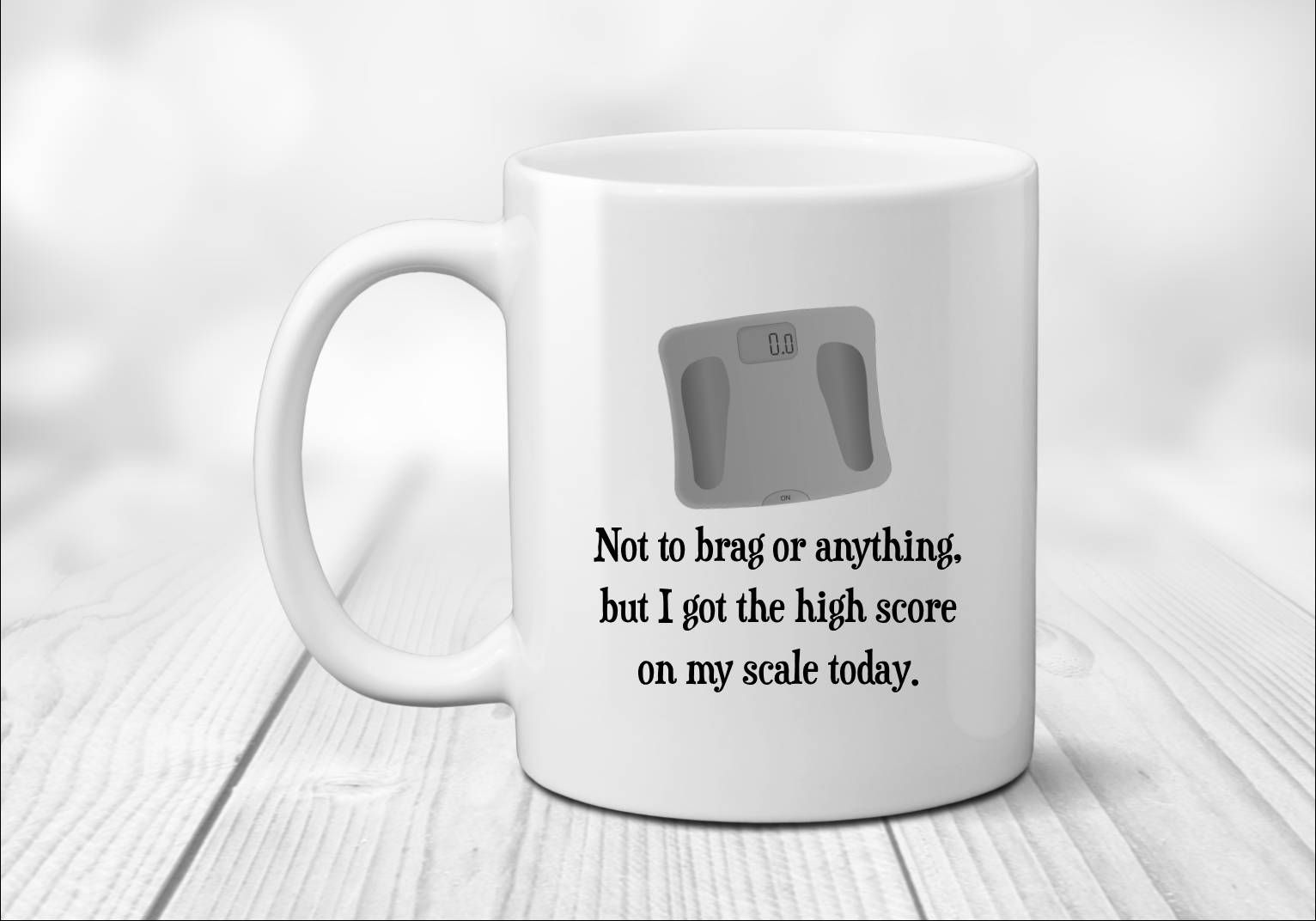 Scale Mug Weight Loss Gift Funny For Her Women Motivation Coffee Mugs Ting By Simplybrewed