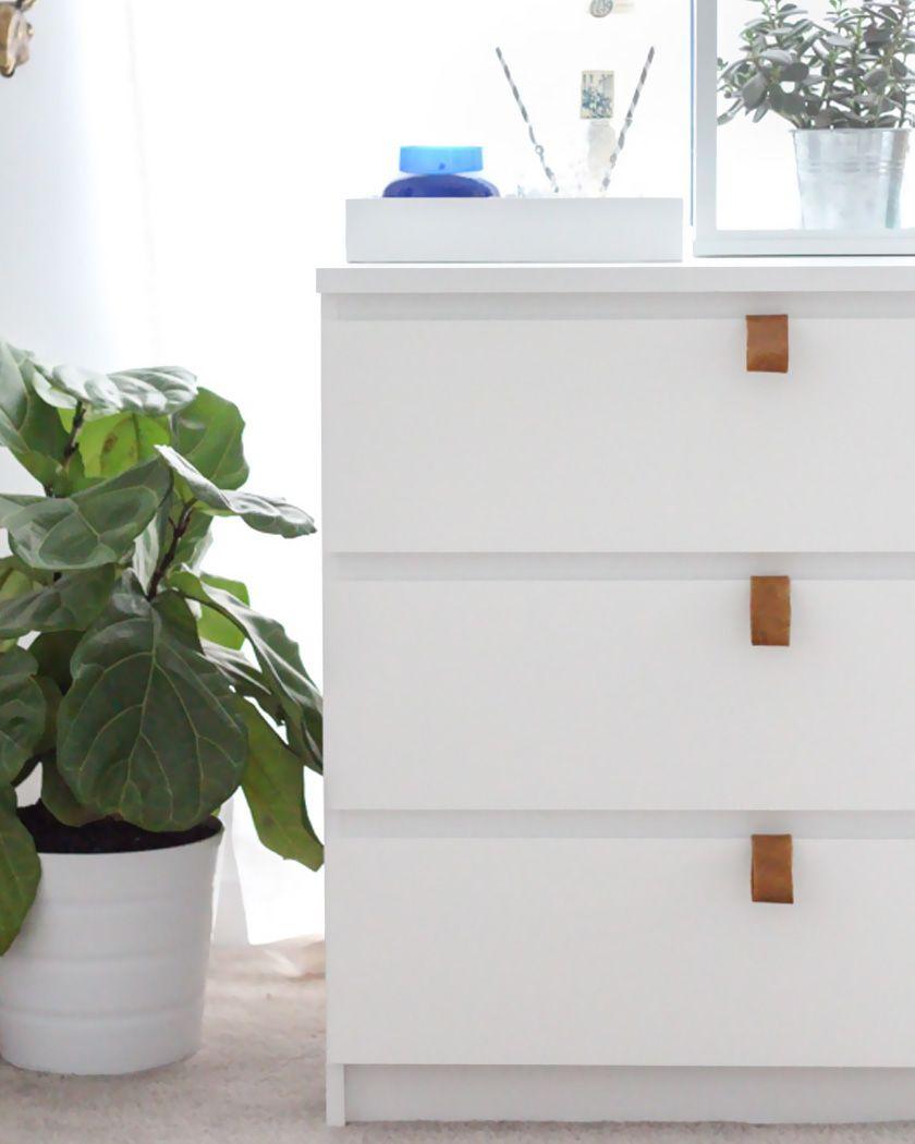 ikea malm dresser hack leather handles | Ikea malm dresser