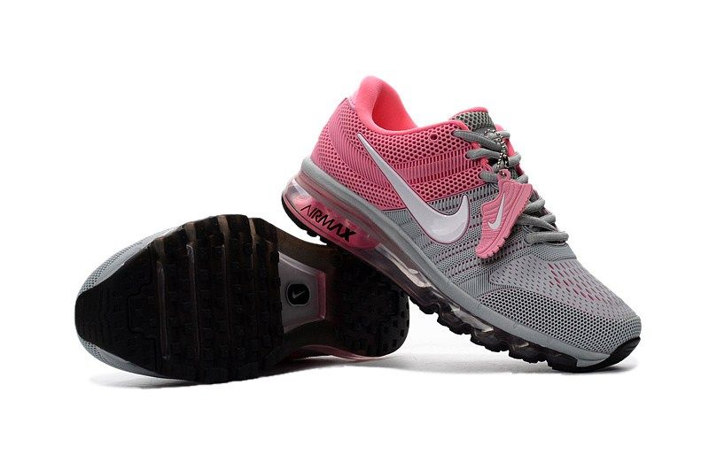 Nike Air Max 2017 Women Grey Pink KPU Shoes Zapatillas para correr