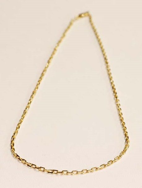 7baca26b9c1a Cadena de oro 18k anillada de grosor medio   Tresor París