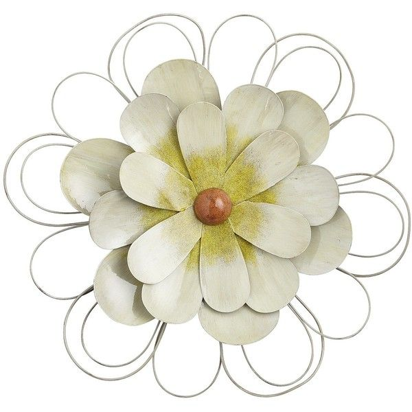 Pier One White Flower Wall Decor ($30) ❤ liked on Polyvore | Beauty ...