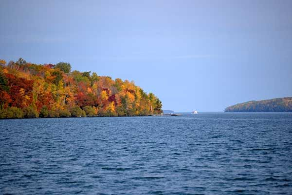 Autumn in the Apostle Islands. Photo by Sandy Buss.