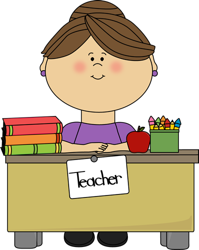 teacher sitting at a desk school teacher clip art pinterest rh pinterest com