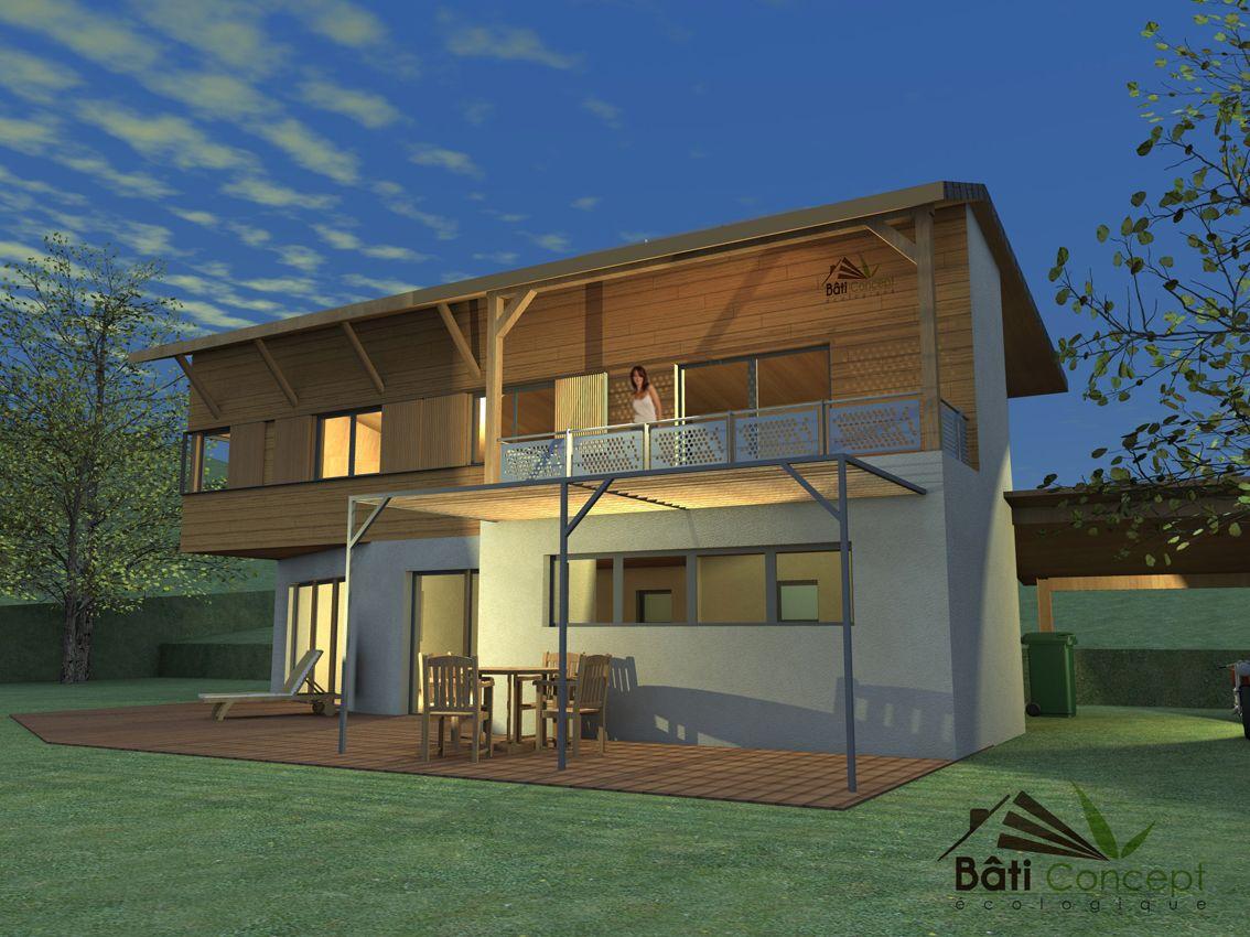 Maison Bioclimatique Passive Bois Bâti Concept Ecologique Maison - Qu est ce qu une maison bioclimatique