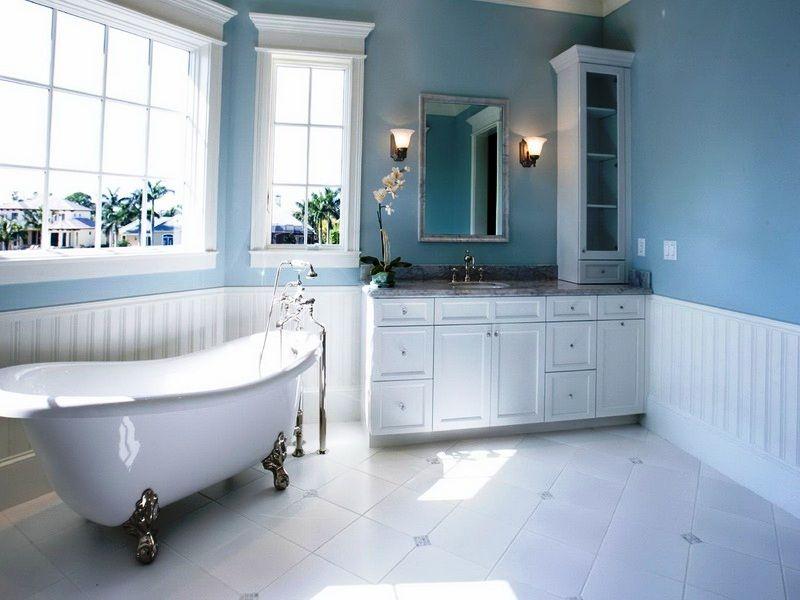 How To Decorate With Different Shades Of Blue Light Blue Bathroom Master Bathroom Design Minimalist Bathroom Design