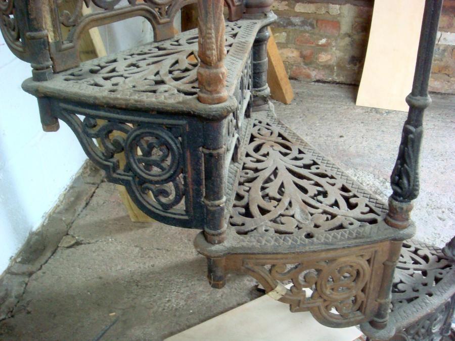 Best Ornate Antique Victorian Cast Iron Spiral Staircase 640 x 480