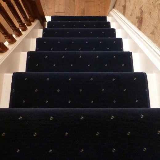 Best Dotty Navy Blue Stair Carpet Runner Carpet Staircase 400 x 300