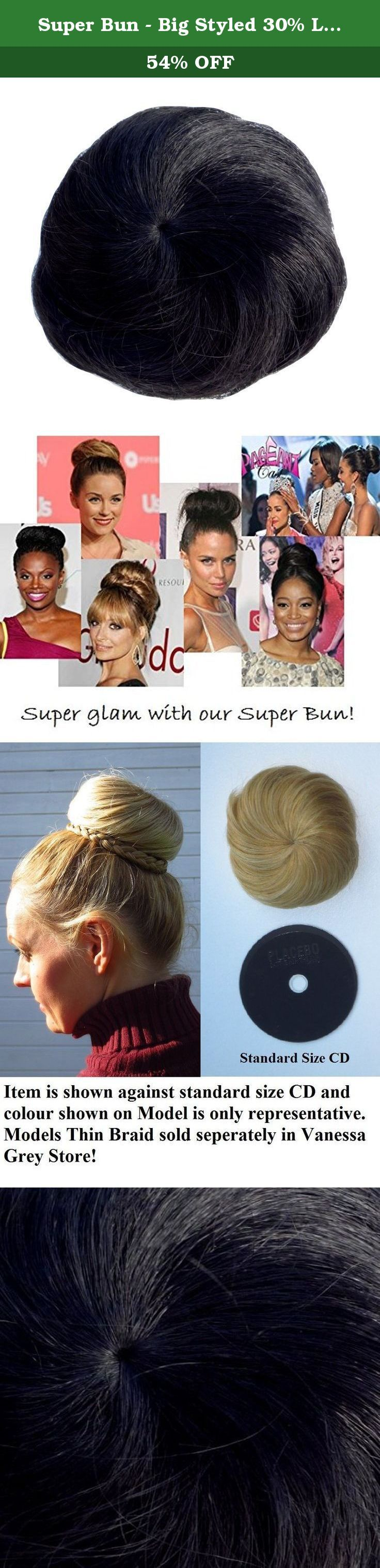 "super bun - big styled 30% larger ""airline stewardess"" bun - 60's"