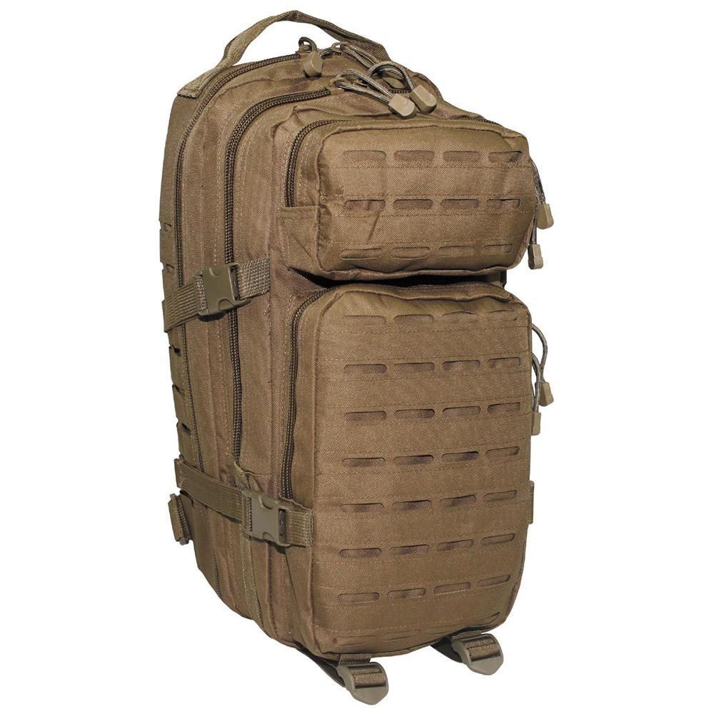 98c07c7e6fb MFH Laser Small Assault Pack - Coyote Tan | Motorbike bags | Assault ...