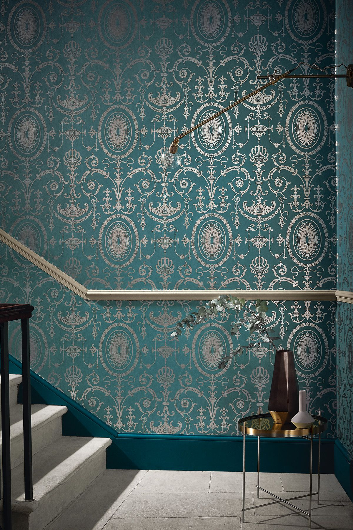 Wallpaper Pall Mall – Canton Gold Dado painted in Portland Stone