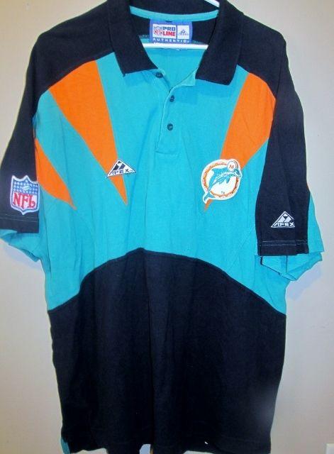 79ff1680e Vintage Apex Pro Line Miami Dolphins Polo shirt